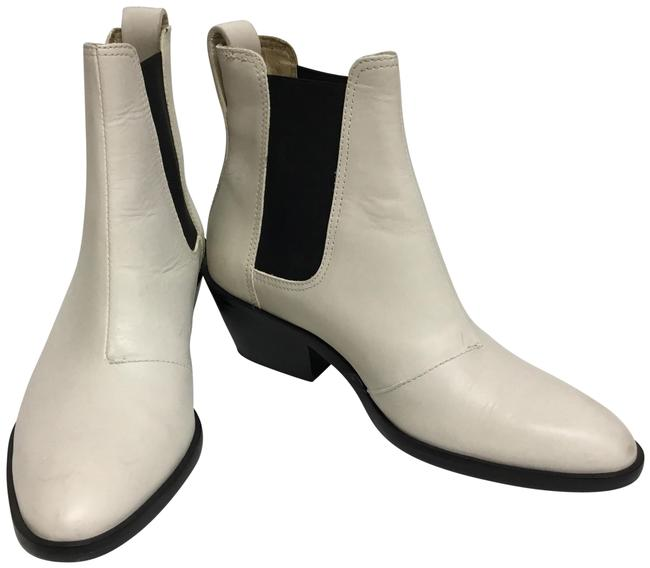 Item - White Ankle with Black Elastic Inserts Boots/Booties Size EU 36.5 (Approx. US 6.5) Regular (M, B)