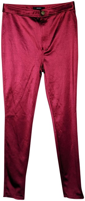 Item - Red High Waist Skinny Disco Shiny Small Pants Size 4 (S, 27)
