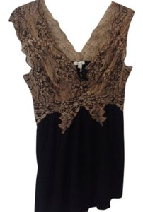 Soma Intimates Top Black w Beige Lace