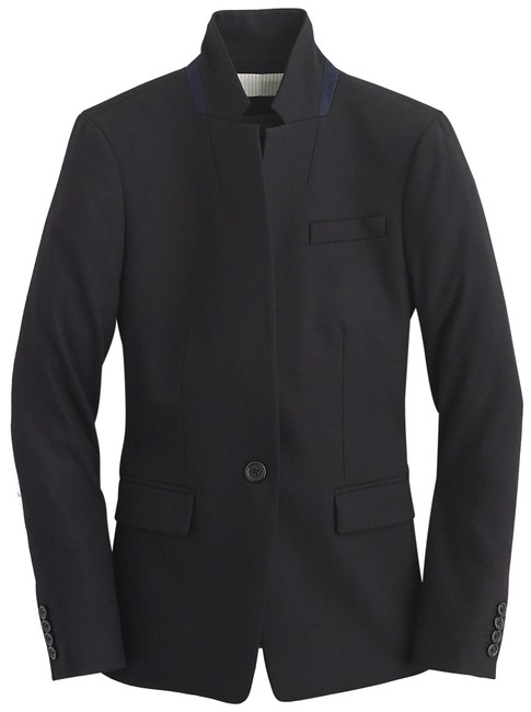 Item - Black Regent Wool-blend Classic Stretch Jacket/Blazer Blazer Size 8 (M)