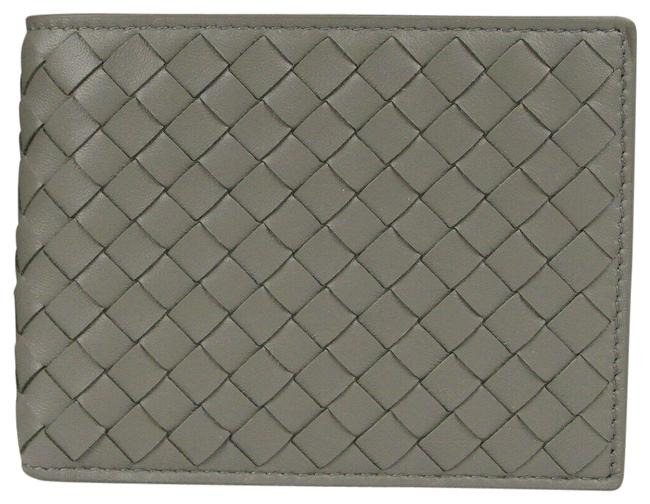 Item - Gray Leather Intercciaco Woven Bifold 148324 1300 Wallet