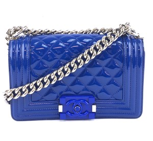 Chanel Cc Flap Quilted Boy Cross Body Bag