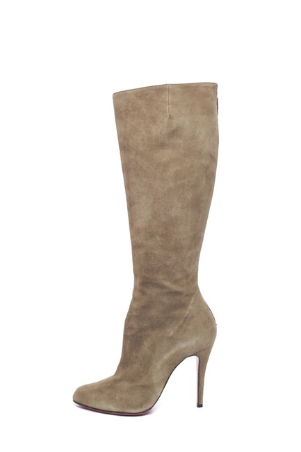 Item - Olive Suede Knee-high Boots/Booties Size EU 37.5 (Approx. US 7.5) Regular (M, B)