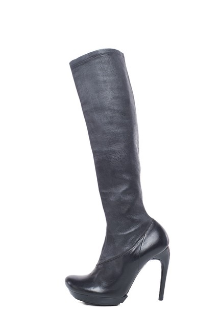 Item - Black Leather Knee High Boots/Booties Size EU 39 (Approx. US 9) Regular (M, B)