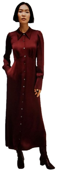 Item - Burgundy Mid-length Work/Office Dress Size 4 (S)