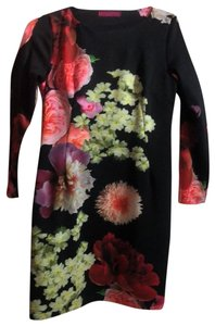 Melissa Masse short dress Black and Floral print on Tradesy