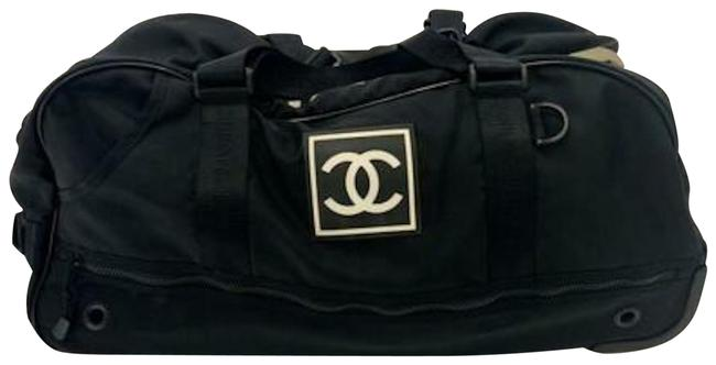 Item - Vintage Rare Sport Duffel Trolley Rolling Carry On Black Nylon Weekend/Travel Bag