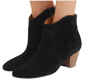 Isabel Marant Suede Leather Designer Black Boots