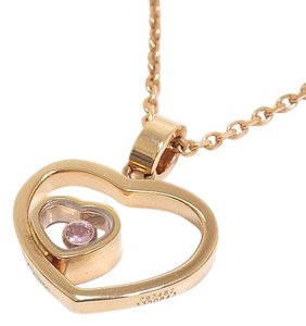 Chopard Chopard Happy Diamond Heart Pendant Necklace 750pg Pink Sapphire 72/7482