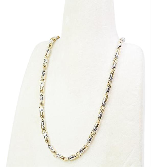 Item - Silver / Yellow Gold Stainless Steel (18k) Chain Necklace