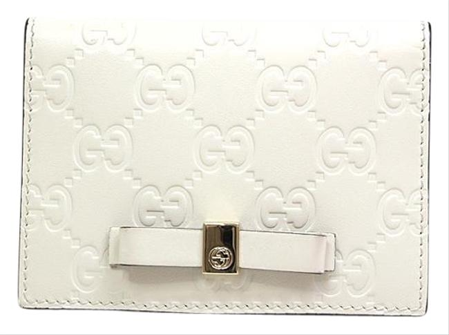 Item - White ssima 388684 Leather Card Case Wallet