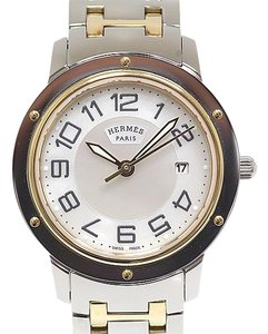 Hermes HERMES Clipper MOP Dial Gold Plated Steel Watch CP1.320