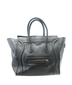 Celine Leather Tote in Black