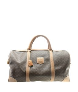 Celine Coated Canvas Satchel in Brown