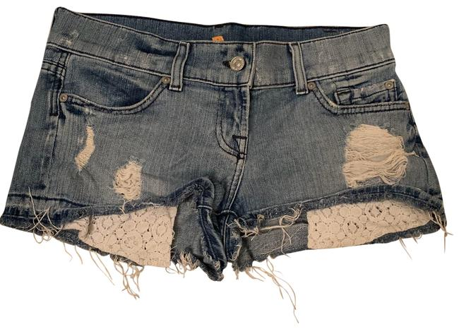 Item - Blue Distressed Denim Shorts Size 2 (XS, 26)