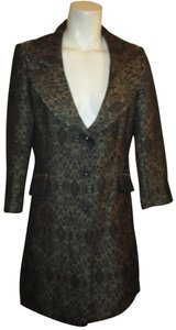 Newport News 3/4 Sleeve Brocade Dressy Metallic Onm001 black multi Blazer