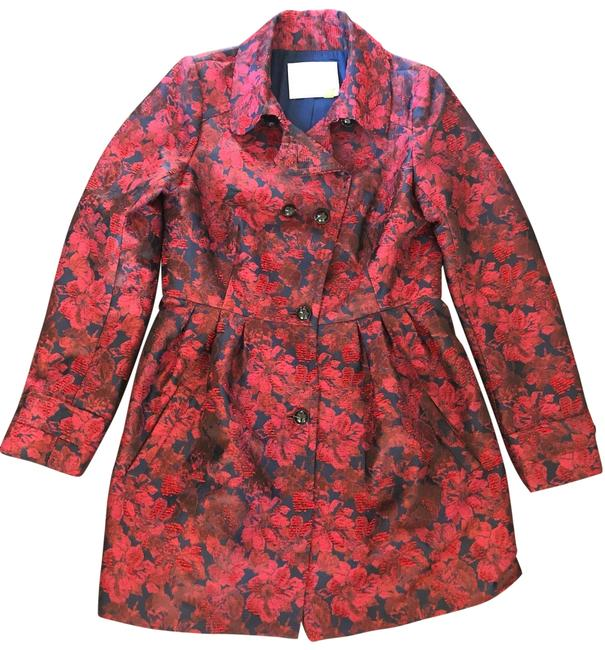 Item - Red & Blue Berta Brocade Jacket Size 8 (M)