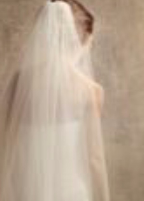 Item - Ivory Medium Two-tier Walking Length with Raw Edge Bridal Veil