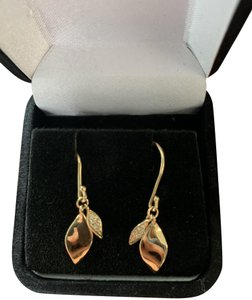 Sydney Evan **VINTAGE** Sydney Evan Pave Leaf Drop Earrings