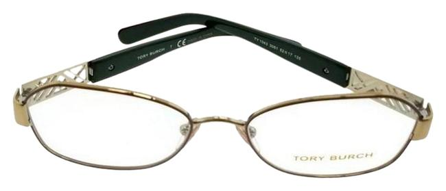 Tory Burch Gold Ty1043-3061-52 Women's Frame Clear Lens Genuine Eyeglasses Tory Burch Gold Ty1043-3061-52 Women's Frame Clear Lens Genuine Eyeglasses Image 1