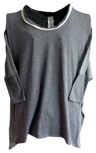 MM Couture Mm Mesh Pull-over Miss Me T Shirt charcoal