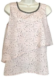 Juicy Couture Sleeveless Bling Embellished Layered Top Pink