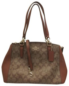 Coach Christie Crossbody Swingpack Signature Satchel in Brown