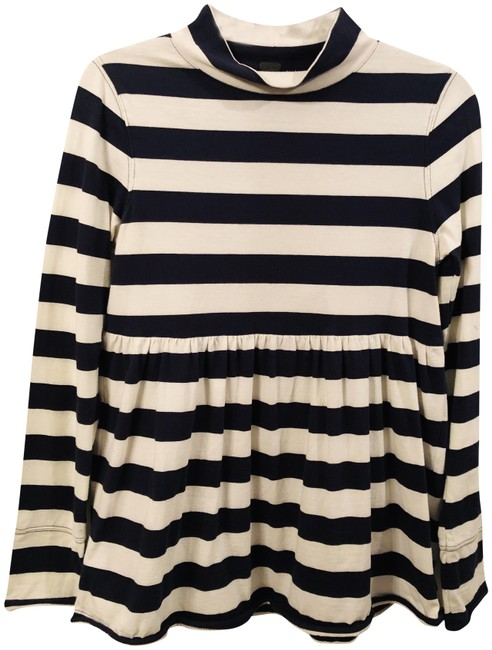 Item - XS Stripe Cotton Top/Pullover. Navy and White Sweater