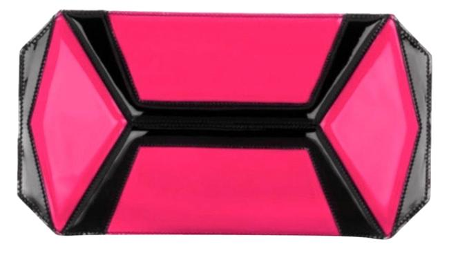 Item - NeÓn Panel Fucsia/Black Leather Clutch