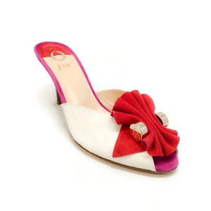 O Jour Ivory / Red Sandals