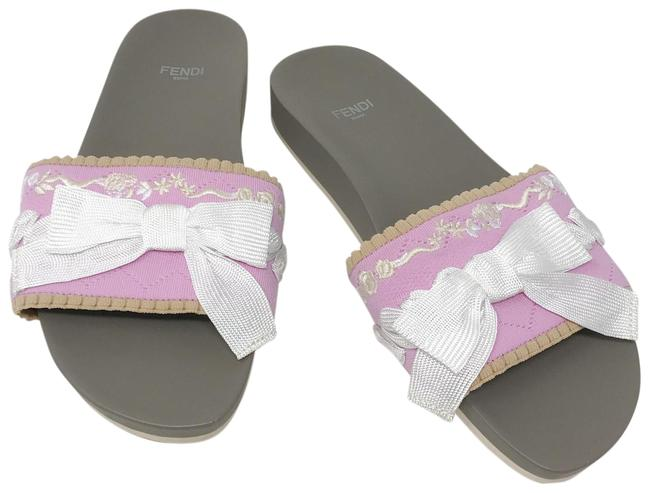 Item - Pink Embroidery Bow Sandals Size EU 37 (Approx. US 7) Regular (M, B)