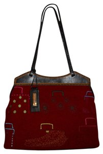 Antonio Melani Tote in red & brown