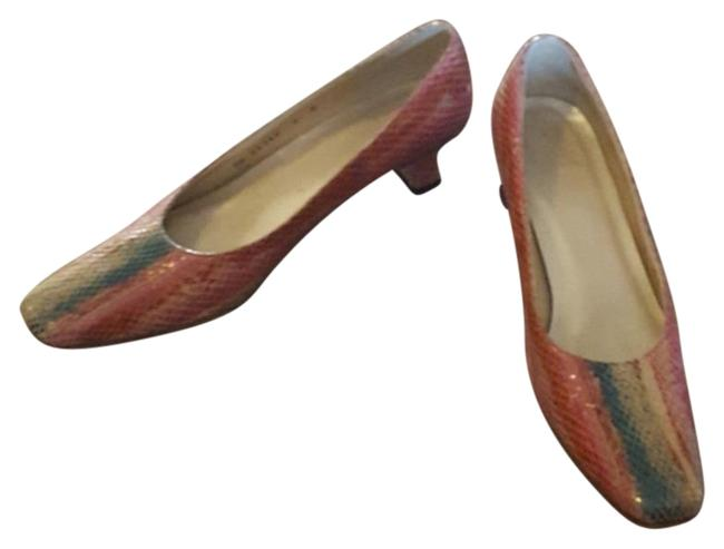 Item - Multi Color Genuine Reptile Pumps Size US 8 Narrow (Aa, N)