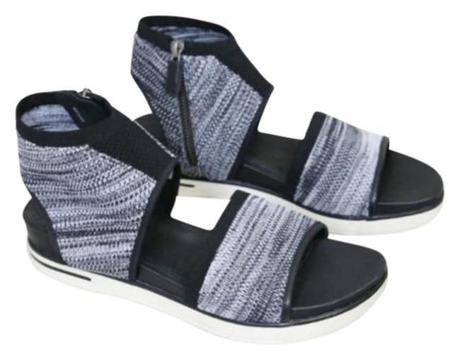 Item - Black and White Knit Sport Sandals Size US 8.5 Regular (M, B)