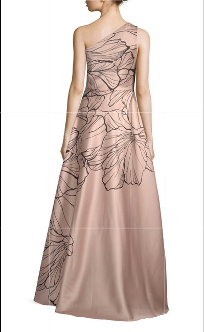 Carmen Marc Valvo Tan Embroidered Print Ball Gown Colored Long Formal Dress Size 14 (L) Carmen Marc Valvo Tan Embroidered Print Ball Gown Colored Long Formal Dress Size 14 (L) Image 2