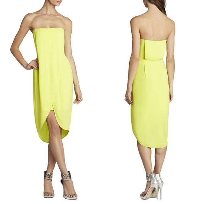 Item - Lime Harriet Strapless Wrap Drape Gown Mid-length Cocktail Dress Size 0 (XS)