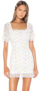 For Love & Lemons Mini Lace Embroidered Daisy Dress