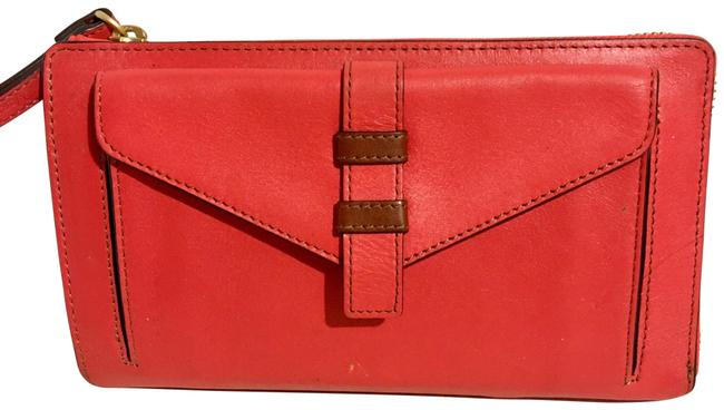 Item - Red/ Red/ Orange Leather Wristlet