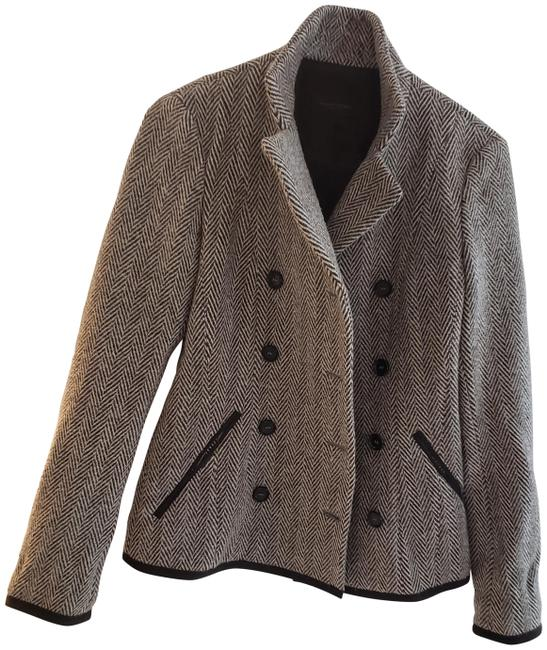 Item - Grey and White Tweed Not Sure Coat Size 2 (XS)