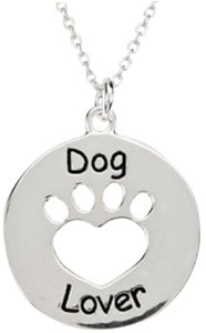 Apples of Gold HEART U BACK - DOG LOVER PAW PENDANT IN STERLING SILVER