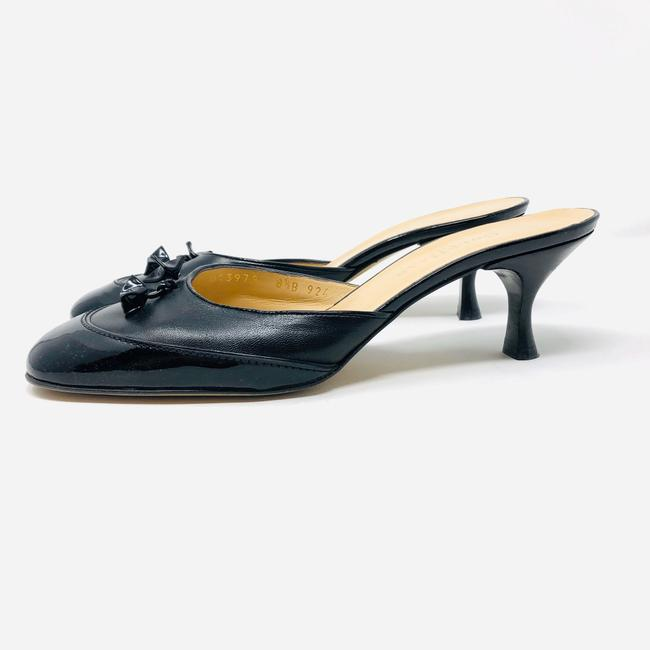 Cole Haan Black Leather / Patent Leather Mules/Slides Size US 8.5 Regular (M, B) Cole Haan Black Leather / Patent Leather Mules/Slides Size US 8.5 Regular (M, B) Image 2