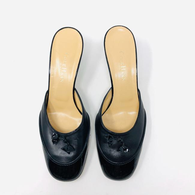 Cole Haan Black Leather / Patent Leather Mules/Slides Size US 8.5 Regular (M, B) Cole Haan Black Leather / Patent Leather Mules/Slides Size US 8.5 Regular (M, B) Image 4
