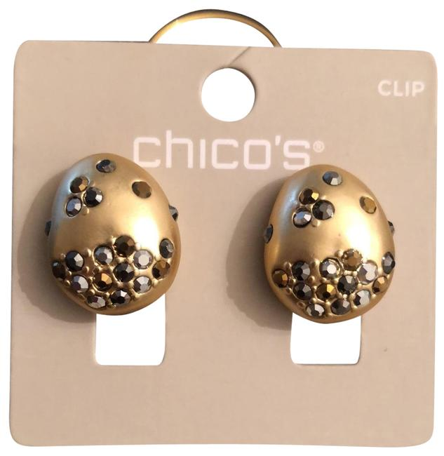 Chico's Gold Clip Earrings Chico's Gold Clip Earrings Image 1