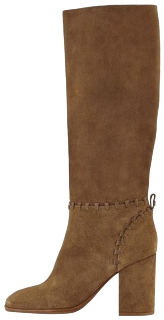 Item - Tan Brown Whipstich Contrair Suade Boots/Booties Size EU 36 (Approx. US 6) Regular (M, B)