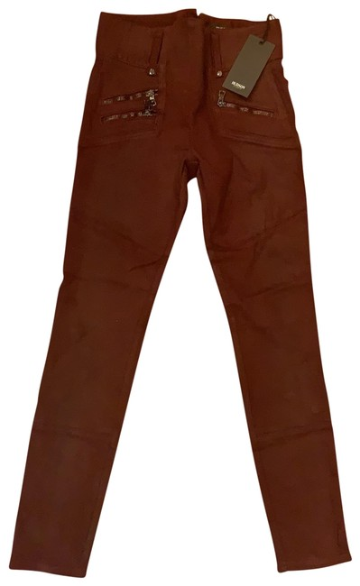 Item - Burgundy Coated Wh409ten Skinny Jeans Size 2 (XS, 26)