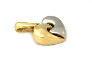 Chimento Puff 18k Two Tone Gold Heart Pendant