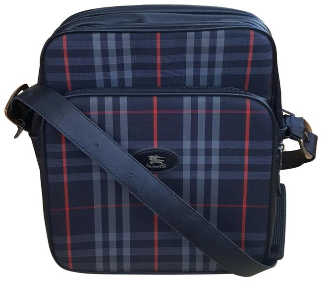 Item - Crossbody Nova Check Blue/Red Canvas Messenger Bag