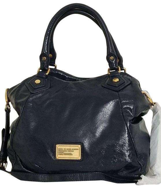 Item - Classic Q Francesca (New with Tags) Bright Navy Blue/Gold Hardware Leather Tote