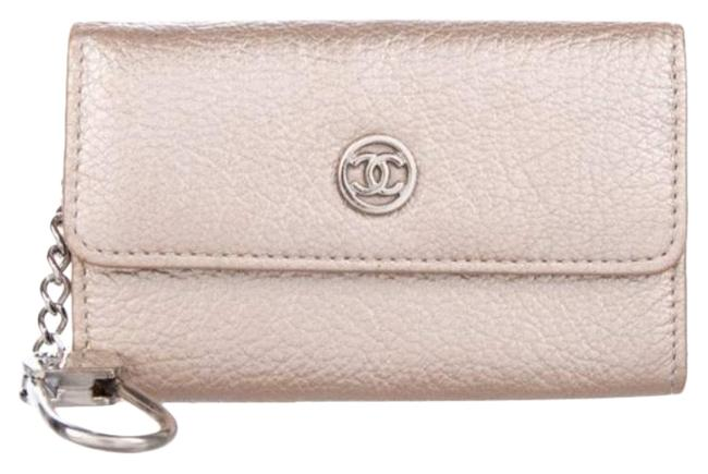 Item - Rose Gold Key Pouch Sevruga Metallic Leather Wallet