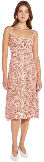 Item - Tangerine Floral Sunny Mid-length Casual Maxi Dress Size 4 (S)